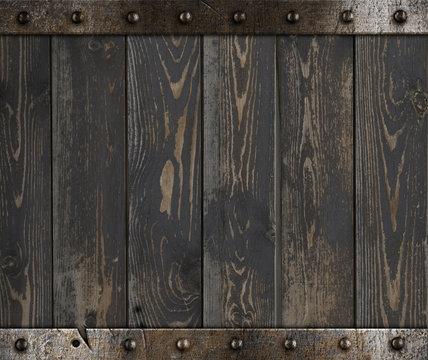 Wood barrel medieval background