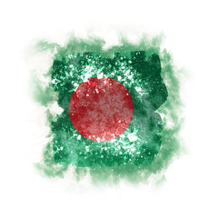 Square grunge flag of bangladesh