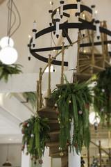 Circular light bulb setup decoration interior