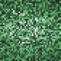 banner pixel green. poster mosaic squares abstract green. background pattern lime for design. green grunge texture. halftone effect. eps10 vector illustration.