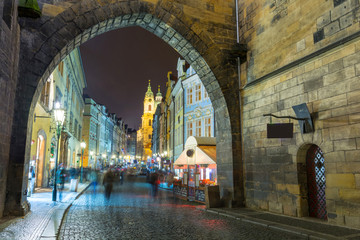 amazing Old Town in Prague at night, Czech Republic