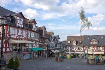 Fachwerkhäuser am Marktplatz von Braunfels, Hessen