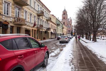 Vilnius,Old Town in Winter