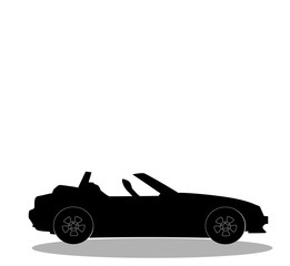 sport car without roof logo, sign, label, clip art for design.