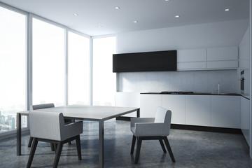 Light kitchen interior