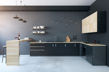 Wall Mural - Modern kitchen interior
