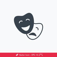 Comedy & Drama Icon / Vector
