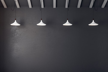 Black concrete wall with copyspace