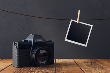 Empty pictures and camera