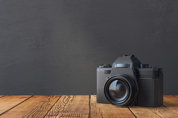 Professional camera closeup
