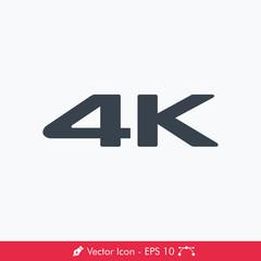 4K Icon / Vector
