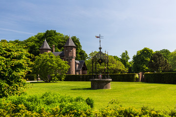 View of the gardens and the exterior of the De Haar Castle