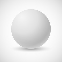 White pearl, vector illustration. Vector illustration