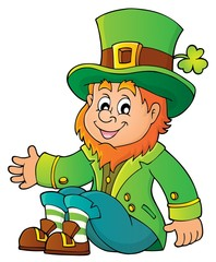 Sitting leprechaun theme image 1