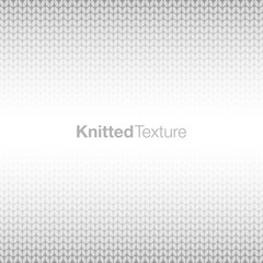 Grey knitted background. Vector illustration