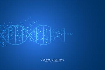 Molecule DNA system, science and medicine concepts.