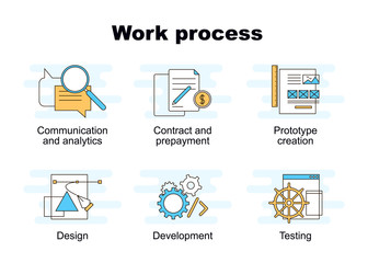 Vector set of work process