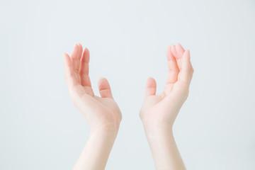 【切抜パス付き】手を広げる