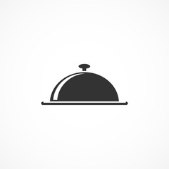 Vector image of icon tray with lid.Sign of food.