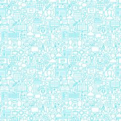 Blog White Line Seamless Pattern