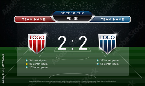 Soccer Scoreboard Team A Vs B Strategy Broadcast Graphic Template Football Score For Web