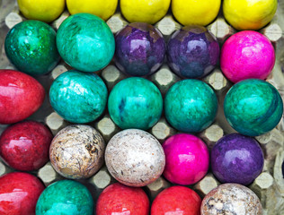colored onyx easter eggs
