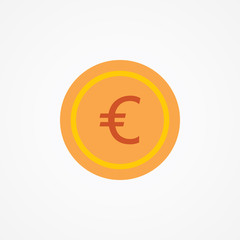 Flat Vector Icon Of Currency Coin.