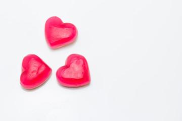 Gominolas con forma de corazón