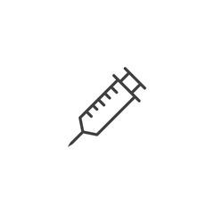 syringe icon. sign design