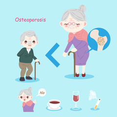 old people with osteoporosis