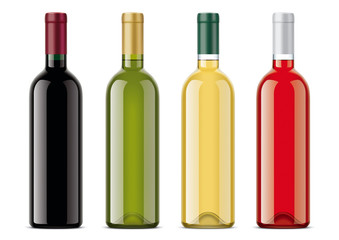 Wine bottles mockups