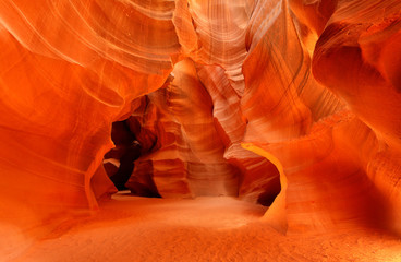 Wall Mural - Upper Antelope Slot Canyon Showing the Light Beam Into the Canyon, Page, Arizona, USA.