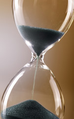 Closeup of hourglass