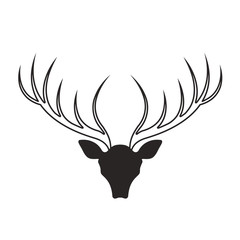 deer antlers vector drawing