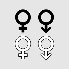 Male and female symbol