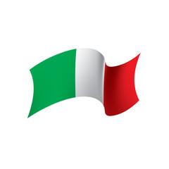 Italy flag, vector illustration