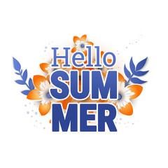 Bright Hello summer poster.