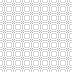 Gray geometric ornament on white background. Seamless pattern