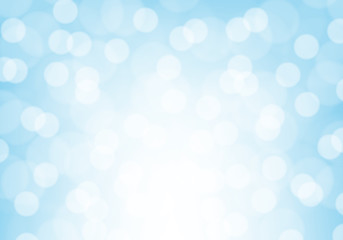 Abstract white bokeh light blur on blue luxury background vector illustration.