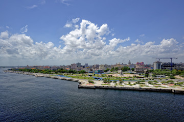 Channel entrance to Bay of Havana, Cuba