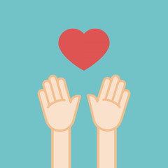 Human love. Flat design, vector illustration