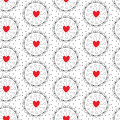 LOVE HAND DRAW SEAMLESS VECTOR PATTERN. SYMBOL HEART DIVERSE TEXTURE. TRENDY  GRUNGE DESIGN VALENTINES DAY BACKGROUND