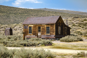 Abandoned buildings from the California gold rush