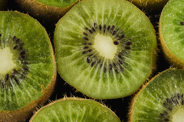 background from cut kiwis/background from cut kiwis. top view