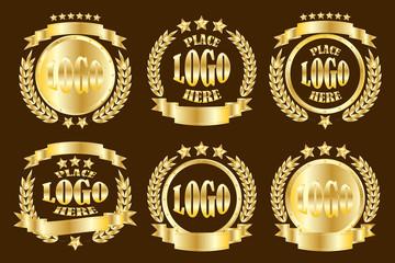 Gold_round_badge_set