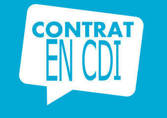 contrat en cdi,dans bulle
