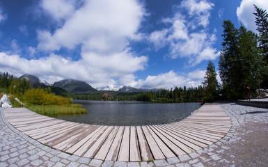 At Strbske pleso lake in Tatry mountains