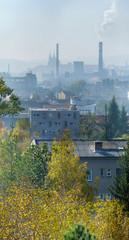 City brno in a haze