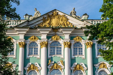 Hermitage exterior wall fragment, St. Petersburg, Russia