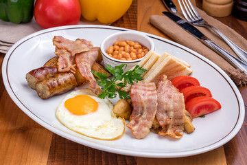 English Breakfast on a plate